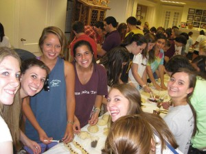 Some of the students taking part in Challah for Hunger, a student-run nonprofit that raises money for an Athens area homeless shelter. PHOTO / Challah for Hunger