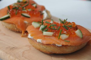 The General Muir's take on the classic lox-on-a-bagel. PHOTOS / The General Muir