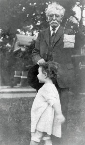 Rabbi 'Alphabet' Browne with his great-granddaughter, Janice Rothschild Blumberg. PHOTO / Courtesy the Blumberg family