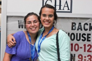 Ateret Kfir (left) and Linor Nahum give students at GHA a direct connection to Israel. PHOTO/courtesy GHA