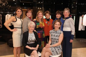 "The women behind ""Aging in Style"" were (standing, left to right) host committee members Abbey Flaum, Tonia Sellers, Alli Medof, Lois Blonder, Ellen Goldstein and Elaine Blumenthal and (seated) co-chairs Cherie Aviv, Sara Kogon. PHOTO / The Breman Jewish Home"