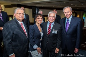 Pastor John Hagee (L-R), Talia Aviran, Consul General Opher Aviran and Dr. Charles Stanley.