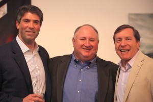 Ted Blum (left) and Past President Robert Franco (right) with past President and honoree Ron Kirschner (center)