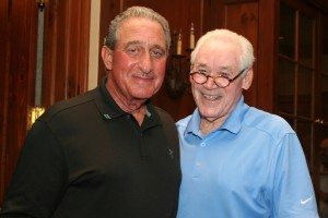 Arthur Blank (L) and Harry Maziar at this year's annual golf tourney sponsored by the MJCCA. PHOTO / MJCCA