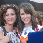 Mia Weinstein and her mom.