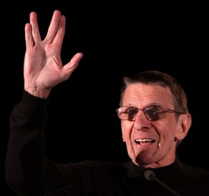 Star Trek creator Gene Roddenberry asked Leonard Nimoy to come up with a Vulcan greeting for the sci-fi series when it first aired in the late 1960s. Mr. Spock's iconic gesture is now a bit of pop culture, as familiar to Trekkies as warp drive and photon torpedoes. PHOTO / JNS.org