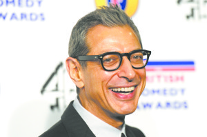 Jeff Goldblum all smiles after being nominated for acting award in Britain.