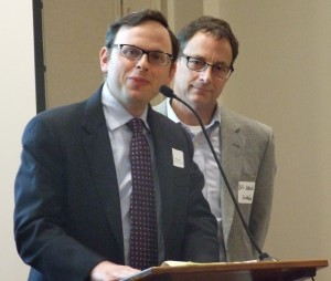 Young Israel of Toco Hills Rabbi Adam Starr and Southface program manager Bill Abballe discuss the Toco Hills' shul's EarthCraft certification.