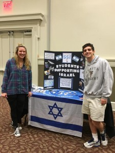 Students Supporting Israel board members Sara Diamond and David Feldman.