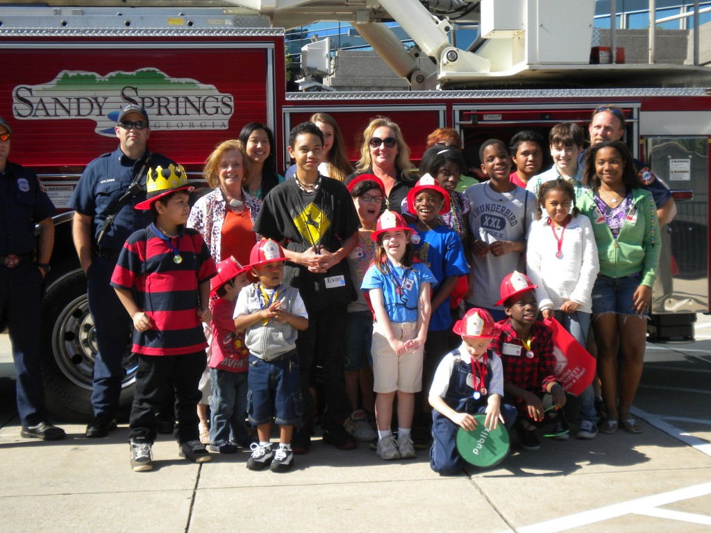 MOM-Others Kids and Adults with Sandy Springs Fire Department