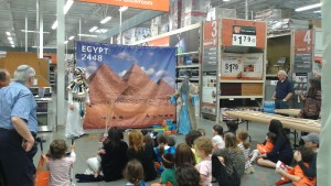 JCrafts transports the young audience from the modern-day Home Depot in Buckhead to ancient Egypt.