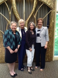 Greater Atlanta Hadassah leaders (from left) Linda Weinroth, Paula Zucker, Phyllis Cohen and Eileen Cohn attend the 2015 Marian F. Perling Hadassah Chesed Student Awards at Congregation Beth Shalom on May 3.