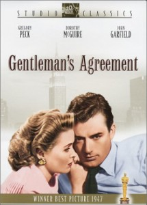 "Gregory Peck stars in ""Gentleman's Agreement"" from 1947 (available at Amazon.com)."