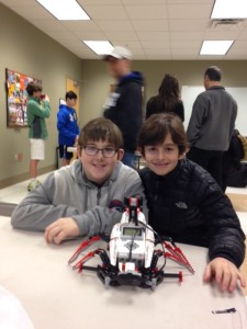 Rising fifth-graders Jack Anderson and Carson Wolf took home first place for their robotics project at the North Atlanta Jewish Technology Fair in January.