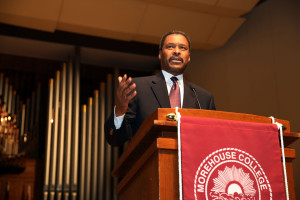 Photo courtesy of Morehouse College Israel's focus on the future impresses Morehouse President John Wilson.