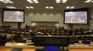Or Hadash Rabbi Analia Bortz speaks during an anti-Semitism forum at the United Nations on Aug. 11.