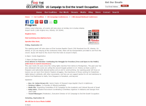 Find information on the conference here: http://www.endtheoccupation.org/article.php?id=4512