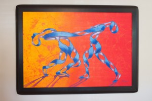 "Ricardo Siccuro painted ""Orange Swirl Dancers"""