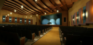 This artist's rendering shows the 600-seat auditorium.
