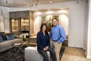 Cabinetry and built-ins by Israel Peljovich help Drs. Anna and Jason Lichtenstein enjoy their home.