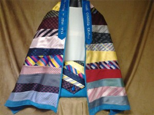 This bar mitzvah tallit is made from a grandfather's neckties.