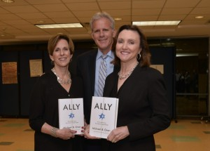 "Photo by Heidi Morton Book Festival co-chairs Susan Tourial (left) and Deborah Jacobs flank Knesset member Michael Oren, who was featured at the festival's prologue event Oct. 7 with his latest book, ""Ally."""
