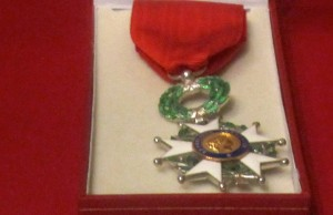 Since 2013, Irving Feinberg has been a member of the French Legion of Honor for his war service, and he has the medal to prove it.