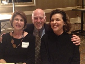 Rose Haber (left), Ed Goldberg and Renae Goldberg join the celebration and the bond sales. (Photo by Marcia Caller Jaffe)