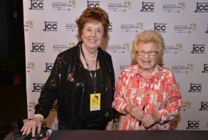 Photo by Heidi Morton Esther Levine poses with Dr. Ruth Westheimer.
