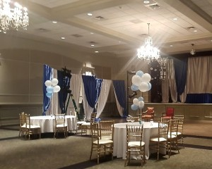 Srochi Hall is dressed up for a faux simcha.