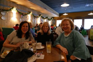 Maxine Perlman (right), Sheri Libby (center) and Roberta Sirzyk (left) enjoyed one final lunch together at the Brickery Dec. 23