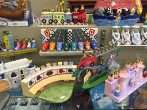 Judaica Corner offers a range of chanukiahs appealing to children.