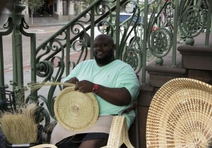 Craftsmen all over Charleston sell hand-woven sweet-grass baskets, a symbol of Charleston's African-inspired Gullah culture.