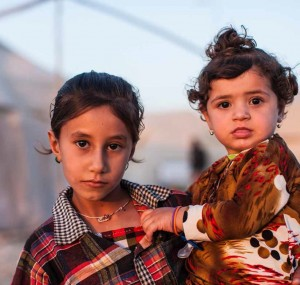 These Yezidi sisters are living in a camp for displaced people in Dohuk, Iraq.