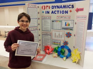 Ari Slomka is a two-time overall winner of the AJA Junior High Science Fair.