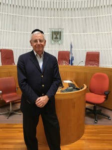 Alan Lubel visits the Supreme Court, where the JNF lawyers mission heard a presentation on the Israeli legal system.