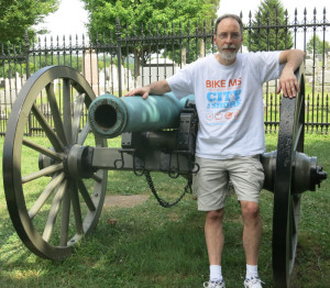 "Dan Gutman visits Gettysburg to research his first ""Flashback Four"" book."