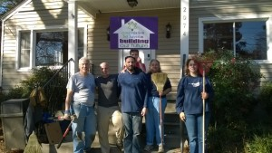 Congregation Bet Haverim members (from left) Andy Segal, Jamie Collins, Charlie Chasen, Max Levie-Sprick (behind Chasen), Kim Goldsmith and Jan Levie spruce up their new building, the former Young Israel location, early in 2015. The building purchase was the culmination of a three-decade journey from ostracism to full acceptance in the Atlanta Jewish community.