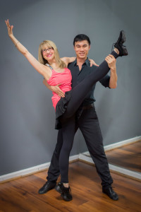Photo by Marcia Caller Jaffe Karen Schatten Shmerling is training with Jonathan Chen for the Dancing Stars of Atlanta benefit for the Alzheimer's Association.