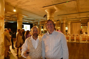 City Winery founder Michael Dorf and AJT Publisher Michael Morris are all smiles after the Freedom Seder.
