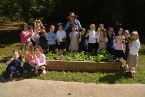 Hadassah Ezoory helps children at Jewish schools grow their own lettuce and other produce.