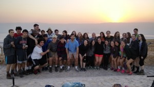 Weber students relax atop Masada after climbing the mountain and re-enacting the battle that ended the Great Jewish Revolt in 73 C.E.