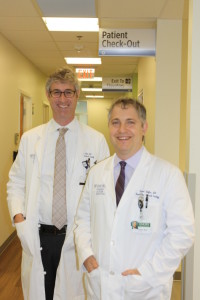 Oncologists Stephen Szabo and Robert Klafter have been friends for 16 years.