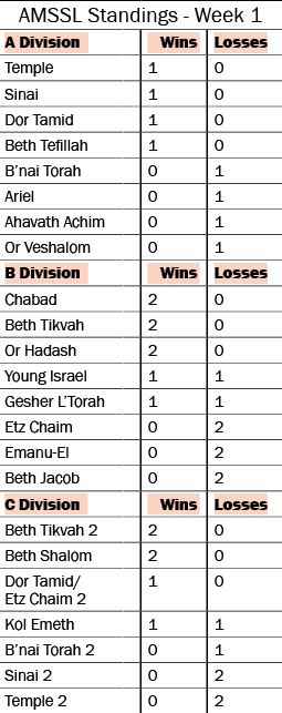 Atlanta Synagogue Softball Results – Week 1 1