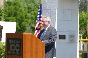 Georgia Attorney General Sam Olens addresses the crowd.