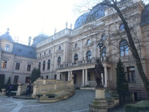 The Poznanski Palace in Lodz shows how Jewish society thrived in Poland before World War II.