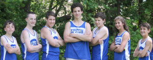 The Epstein School's success includes this spring's Metro Atlanta Athletic Conference middle school track championships, where (from left) Eitan Ventura, Avi Young, Jay Satisky, Tal Brill, Isaac Jaye, Ella Gamson and Josh Aronstein won medals.