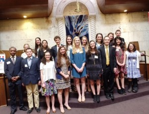 The 2016 Hadassah Chesed honorees are (back row from left) Leah Lipskier, Liana Slomka, Morasha Winokur, David Medof, Hailey Kessler, Jessica Hankin, Ruthie Feldman, Oryah Bunder and Chase Flagel and (front row from left) Judah Means, Felix Fisch, Aidyn Levin, Noa Benveniste, Carolyn Capalouto, Alyssa Bruck, Joel Pozin, Sloan Salinas and Mira Mutnick. Not pictured are Mya Artzi and Elaine Berger.