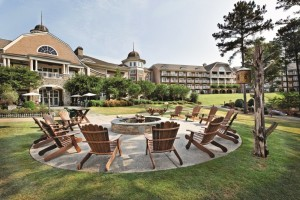 Photo by JoAnne Kim, Ritz-Carlton Reynolds, Lake Oconee The upscale fire pit is the scene for evening s'mores.