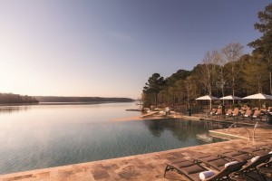 Photo by Courtney Hayden, Ritz-Carlton Reynolds, Lake Oconee The Reynolds Plantation Lodge features an infinity pool right on the lake.
